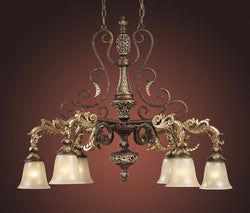 ELK Lighting Lighting 2161-6 Six Light Chandelier In Burnt Bronze - ELKLightingCenter - 1