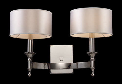 ELK Lighting 10122-2 Pembroke Two Light Sconce In Polished Nickel - ELKLightingCenter