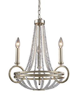 ELK Lighting Lighting 31013-3 New York Three Light Chandelier In Renaissance Silver - ELKLightingCenter
