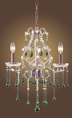 ELK Lighting Lighting 4011-3Lm Three Light Chandelier In Rust And Lime Crystal - ELKLightingCenter