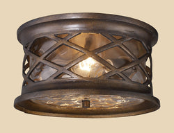 ELK Lighting 42037-2 Barrington Gate Two Light Outdoor Flush Mount In Hazelnut Bronze - ELKLightingCenter