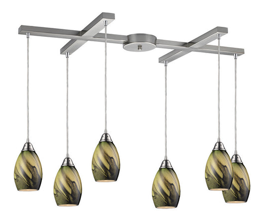 ELK Lighting Formations/Planetary 6- Light Pendant In Satin Nickel - 31133/6PLN - ELKLightingCenter