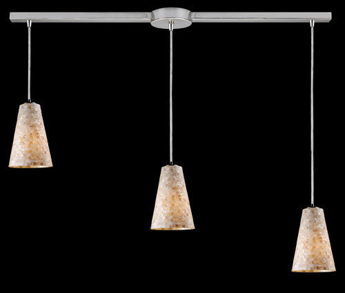 ELK Lighting 10142-3L Capri Three Light Pendant In Satin Nickel - ELKLightingCenter