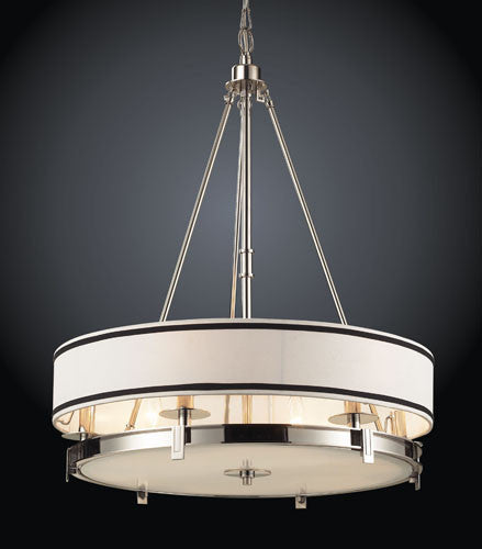 ELK Lighting 1624-6 Six Light Pendant Lightin Polished Nickel - ELKLightingCenter