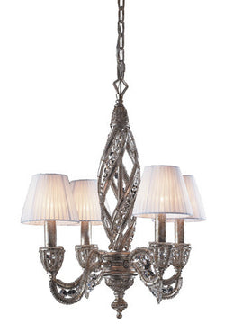 ELK Lighting Lighting 6235-4 Four Light Chandelier In Sunset Silver And Crystal Accents - ELKLightingCenter