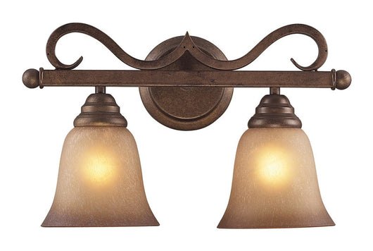 ELK Lighting Lawrenceville 3 Light Vanity In Mocha And Antique Amber Glass - 9322/3 - ELKLightingCenter