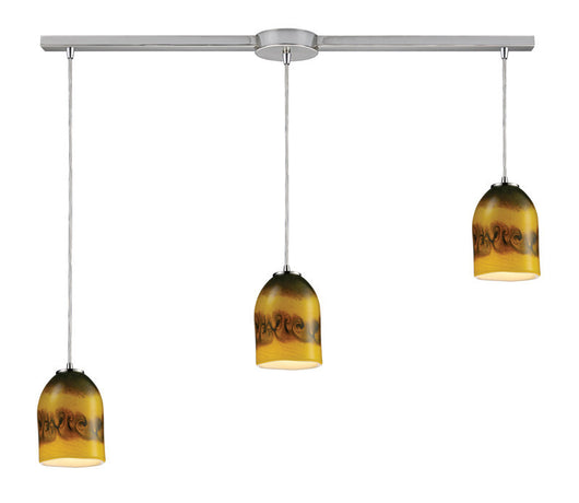 ELK Lighting Cosmos Cosmos 3-Light Linear Comet Pendant In Satin Nickel - 10217/3L-CMT - ELKLightingCenter