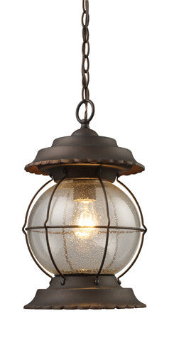 ELK Lighting 08170-Bb Manchester One Light Outdoor Pendant In Burnt Bronze - ELKLightingCenter