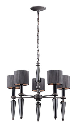 ELK Lighting Beaumont 5- Light Chandelier In Graphite - 11323/5 - ELKLightingCenter