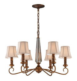 ELK Lighting Crestview 6- Light Chandelier In Spanish Bronze - 11333/6 - ELKLightingCenter