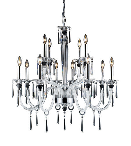 ELK Lighting Lighting 31092-8+4 Duchess Twelve Light Chandelier In Polished Chrome - ELKLightingCenter