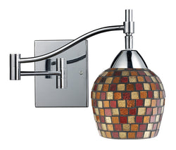 ELK Lighting Celina Celina 1-Light Swingarm Sconce In Polished Chrom And Multi Fusion Glass - 10151/1PC-MLT - ELKLightingCenter