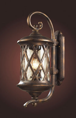 ELK Lighting 42032-3 Three Light Outdoor Sconce In Hazlenut Bronze And Designer Water Glass - ELKLightingCenter