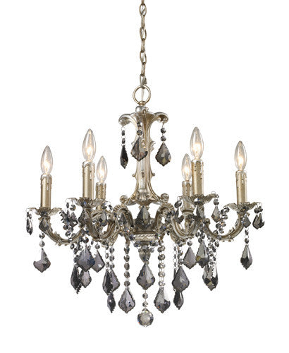 ELK Lighting Lighting 15046-6 Marseille Six Light Chandelier In Weathered Silver - ELKLightingCenter