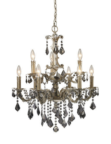 ELK Lighting Lighting 15047-6+3 Marseille 6+Three Light Chandelier In Weathered Silver - ELKLightingCenter