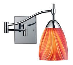 ELK Lighting Celina Celina 1-Light Swingarm Sconce In Polished Chrome And Multi Glass - 10151/1PC-M - ELKLightingCenter