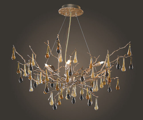 ELK Lighting Lighting 1721-6 Six Light Chandelier In Silver Leaf - ELKLightingCenter