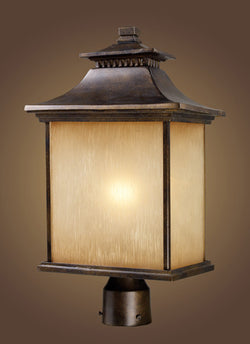 ELK Lighting 42184-1 San Gabriel One Light Outdoor Post Light In Hazelnut Bronze - ELKLightingCenter