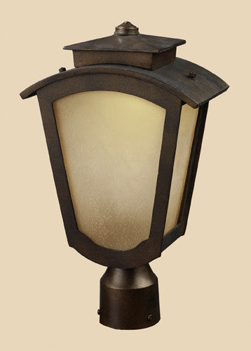ELK Lighting 42243-1 Porter One Light Outdoor Title 24 Compliant Led Post Mount Only In Hazelnut Bronze - ELKLightingCenter