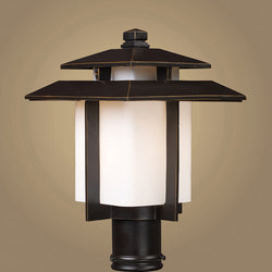 ELK Lighting 42173-1 Kanso One Light Outdoor Pier Mount In Hazelnut Bronze - ELKLightingCenter