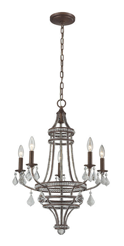 ELK Lighting Chaumont 5- Light Chandelier In Mocha - 31204/5 - ELKLightingCenter