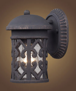 ELK Lighting 42065-1 Tuscany Coast One Light Outdoor Sconce In Weathered Charcoal - ELKLightingCenter