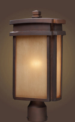 ELK Lighting 42145-1 One Light  Outdoor Post Light N Clay Bronze - ELKLightingCenter