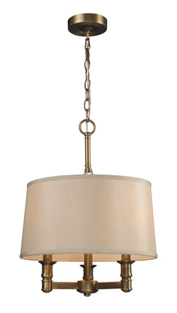ELK Lighting Baxter 3- Light Chandelier In Brushed Antique Brass - 31264/3 - ELKLightingCenter