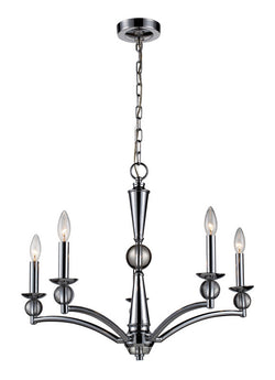 ELK Lighting Martina 5- Light Chandelier In Polished Chrome - 31288/5 - ELKLightingCenter