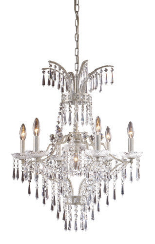 ELK Lighting Lighting 4056-6+1 Seven Light Chandelier In Sunset Silver - ELKLightingCenter
