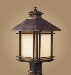 ELK Lighting 42104-1 One Light Outdoor Post Light Light In Hazelnut Bronze - ELKLightingCenter