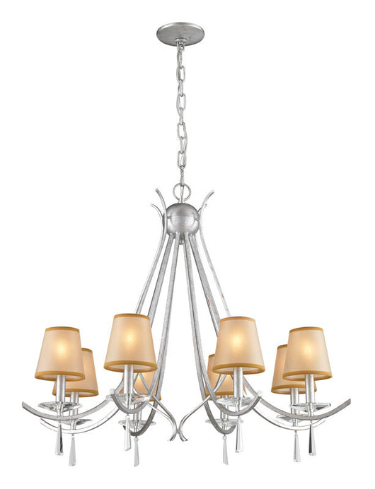 ELK Lighting Clarendon 8- Light Chandelier In Silver - 14083/8 - ELKLightingCenter