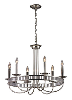 ELK Lighting Braxton 6- Light Chandelier In Polished Chrome - 10231/6 - ELKLightingCenter