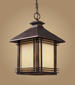 ELK Lighting 42103-1 One Light Outdoor Pendant In Hazlenut Bronze - ELKLightingCenter