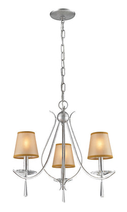 ELK Lighting Clarendon 3- Light Chandelier In Silver - 14081/3 - ELKLightingCenter