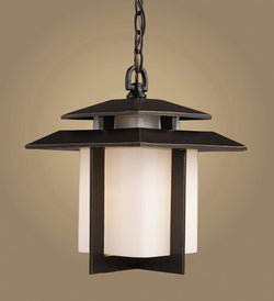 ELK Lighting 42172-1 Kanso One Light Outdoor Pendant In Hazelnut Bronze - ELKLightingCenter