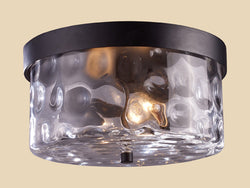 ELK Lighting 42253-2 Grand Aisle Two Light Outdoor Flush Mount In Hazelnut Bronze - ELKLightingCenter
