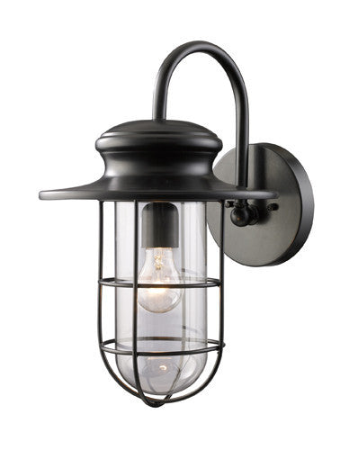 ELK Lighting 42285-1 Portside One Light Outdoor Sconce In Matte Black - ELKLightingCenter
