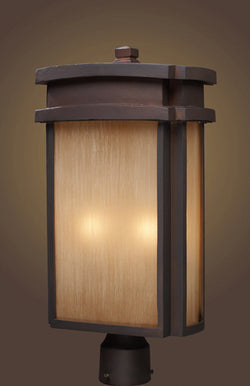 ELK Lighting 42144-2 Two Light Outdoor Post Light In Clay Bronze - ELKLightingCenter