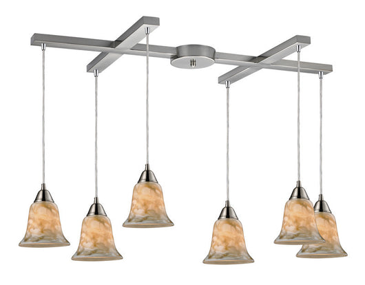ELK Lighting Confections/Nougat 6- Light Pendant In Satin Nickel - 31130/6NG - ELKLightingCenter