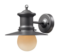 ELK Lighting Maritime 1- Light Outdoor Sconce In Graphite - 42405/1 - ELKLightingCenter
