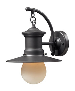 ELK Lighting Maritime 1- Light Outdoor Sconce In Graphite - 42406/1 - ELKLightingCenter