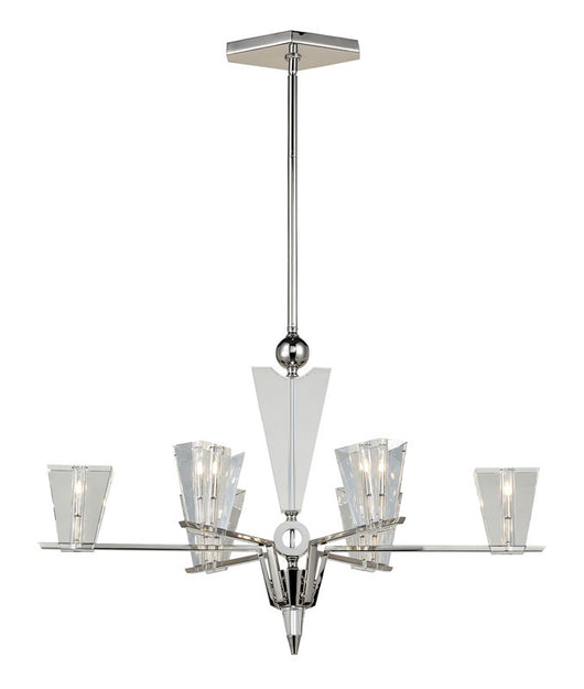 ELK Lighting Newtown 6- Light Chandelier In Polished Nickel - 44012/6 - ELKLightingCenter