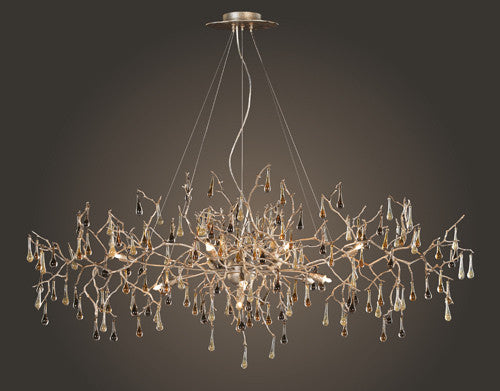 ELK Lighting Lighting 1723-12 Twelve Light Chandelier In Silver Leaf - ELKLightingCenter