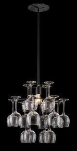 ELK Lighting Lighting 14040-1 Vintage One Light Chandelier In Dark Rust With Glass - ELKLightingCenter - 2