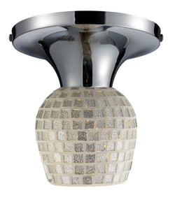 ELK Lighting Celina Celina 1-Light Semi-Flush In Polished Chrome And Silver - 10152/1PC-SLV - ELKLightingCenter