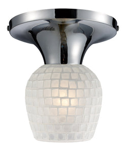 ELK Lighting Celina Celina 1-Light Semi-Flush In Polished Chrome And White Glass - 10152/1PC-WHT - ELKLightingCenter