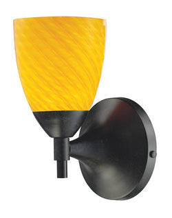 ELK Lighting Celina Celina 1-Light Sconce In Dark Rust With Canary Glass - 10150/1DR-CN - ELKLightingCenter