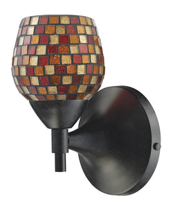 ELK Lighting Celina Celina 1-Light Sconce In Dark Rust With Multi Fusion Glass - 10150/1DR-MLT - ELKLightingCenter