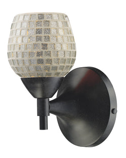 ELK Lighting Celina Celina 1-Light Sconce In Dark Rust With Silver Glass - 10150/1DR-SLV - ELKLightingCenter